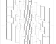 Esta es la plantilla que he diseñado para crear mi torsión 4 35 kirigami escultura de la torcedura. Esto no es una pieza montada, algo le proporciona el patrón para hacerlo usted mismo. Paso mucho tiempo y cuidado en el diseño de estos; son precisos hasta el 10 de un milímetro.  Para usarlo, lo imprimo (color o b & w funciona bien; Usar una impresora láser b & w), coloque un borde suavemente para un pedazo de tarjeta con lo tak palo de cinta o pegamento, luego marcar con un punto de…