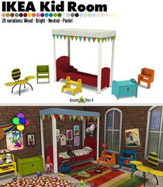 IKEA-like Kid Bedroom at Around the Sims 4 via Sims 4 Updates