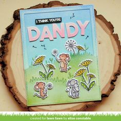 Lawn Fawn Intro: Lift the Flap Meadow, Meadow Backdrop: Portrait and Meadow Backdrop: Landscape Birthday Posts, Birthday Cards, Simple Card Designs, Cloud Stencil, Lawn Fawn Blog, Lawn Fawn Stamps, Happy Design, Friendship Cards, Ink Pads