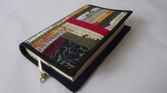 Patchwork Book Case-Christmas,Gift-Patchwork Book Cover-Custom made Art Journal-Journal-Scrapbook-Cover Quilted Textile by duduhandmade on Etsy