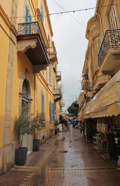 Ledra Street after the rain, Nicosia old town, Cyprus Cyprus Island, Places Ive Been, Places To Visit, Nicosia Cyprus, North Cyprus, Paphos, Limassol, Old Street, Islamic Architecture