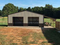 Metal Buildings At Home Depot and Metal Garage Buildings Florida. Pole Barn Garage, Garage Loft, Carport Garage, Garage House, Garage Plans, Garage Ideas, Garage Shop, Garage Exterior, Garage Kits
