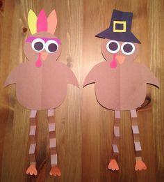 Pilgrim and Indian Turkey Craft - Thanksgiving Craft - Preschool Craft