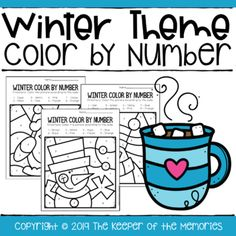 Color By Number Winter Preschool WorksheetsFun and whimsical color by number worksheets for little kids.Includes 8 color by number worksheets for preschoolers and kindergartners + answer keys to make checking them quick & easy! Get all four of our Preschool Seasons Printable Worksheets, a total ... Preschool Printables, Preschool Worksheets, Printable Worksheets, Preschool Activities, Number Worksheets, Summer Preschool Themes, Preschool At Home, Preschool Seasons, Preschool Winter
