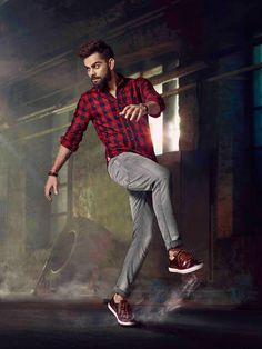 Kohli fans get the kohli look. From original brands.Visit website for more looks. Anushka Sharma And Virat, Virat Kohli And Anushka, Virat Kohli Wallpapers, Mens Fashion Wear, Fashion Outfits, Poses For Men, Couple Photography Poses, Cute Actors, Looks Style