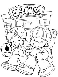 Coloring Sheets, Coloring Pages, Spanish Games, School Clipart, First Day Of School, Learning Activities, Preschool, Clip Art, Snoopy