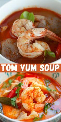 Shrimp Recipes For Dinner, Brunch Recipes, Seafood Recipes, Indian Food Recipes, Asian Recipes, Soup Recipes, Healthy Recipes, Asian Foods, Healthy Eats
