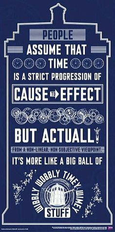 Doctor Who Wibbly Wobbly Poster - You can find Doctor who quotes and more on our website.Doctor Who Wibbly Wobbly Poster - Doctor Who Tardis, The Doctor, Serie Doctor, Doctor Who Blink, Doctor Who Fan Art, Eleventh Doctor, Doctor Who Room, Doctor Help, Dr Who