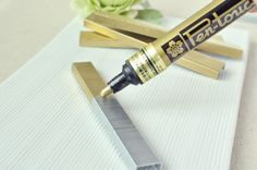 A paint pen can change your staples for those special items like invitations and programs. #diy