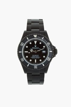 "TIME-KEEPERS - ""BLACK LIMITED EDITION Matte Black Limited Edition Rolex Sea Dweller Watch."""