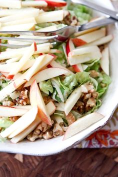Apple, Celery and Walnut Salad with Honey Dijon Vinaigrette | Aggie's Kitchen #ThinkFisher