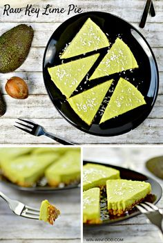 Raw Key Lime Pie | WIN-WINFOOD.com Satisfying and creamy with the perfect balance of sweet and sour, this #raw key lime pie is even better than its original version. And all that using #healthy, unprocessed ingredients and no food coloring