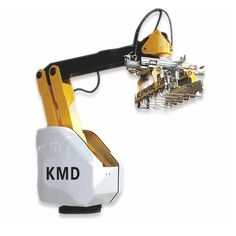 Latest Product - KMD - Palletizing Manipulator  ● Delicate appearance, low load, provides the user with a greater range and speed of activity.  ● Simple and reliable structure, very low failure rate,  convenient for daily maintenance.  ● Large adoption of Aerospace grade aluminum alloy material ensure its low power consumption, maximize saving the cost.  ● Compact Stacking Robot can be set at narrow work space, adjustable flange bolt hole makes it easy and fast to fix or disassemble.  ● The…