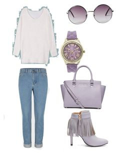Purple kisses by gabbylindsey on Polyvore featuring polyvore, fashion, style, MICHAEL Michael Kors, Geneva, Monki and clothing