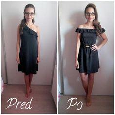 Bodkované refashion šaty zo secondhandu! ♥
