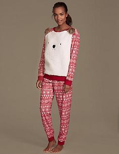 Make bedtime an occasion with our women's nightwear collection. From nightdresses to PJs, find ladies' nightwear you'll want to wear all day long at M&S Cute Pjs, Aw17, Christmas Wishes, Pyjamas, Lounge Wear, Joggers, Onesies, Pajama Pants, Bear