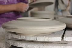 Moulded plates are then left to be dried
