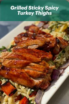 Get grilling with Angie Quaales Grilled Sticky Spicy Turkey Thighs!