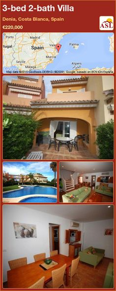 3-bed 2-bath Villa in Denia, Costa Blanca, Spain ►€220,000 #PropertyForSaleInSpain
