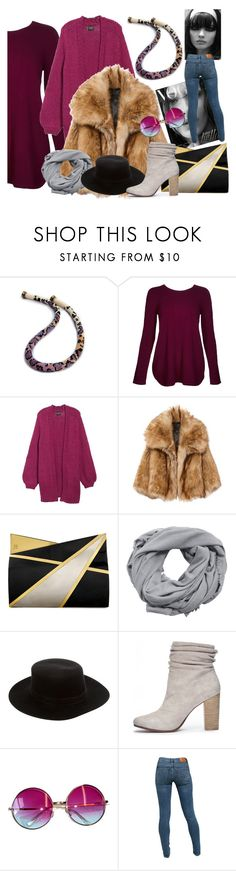 """""""Purple & company!"""" by colchico ❤ liked on Polyvore featuring Kinross, Stone Row, Jill Haber, MANGO, Janessa Leone, Chinese Laundry, Janis and Levi's"""
