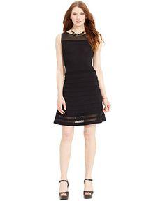 Lauren Ralph Lauren Sleeveless Illusion Dress - Dresses - Women - Macy's