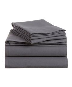Look what I found on #zulily! Silver Hotel Suites Traditional Sheet Set #zulilyfinds