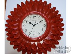 Achieving Creative Order: A Chrysanthemum Clock Made With....Plastic Spoons!