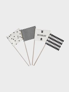 Hurray Flags (set of 4)