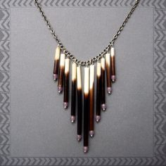 Elemental Porcupine Quill Necklace Tribal by AuroraShadow on Etsy, $39.00