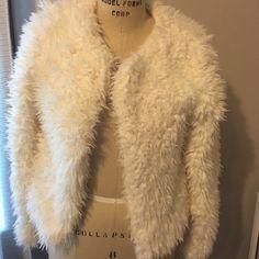 Faux Fur White Jacket Xhilaration - Faux Fur White Jacket. Worn Once. Excellent Condition. Xhilaration Jackets & Coats