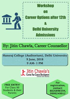 Career counselor Jitin Chawla and his team are global education consultants who help students pick the right career and counsels in a way that help youngsters find their preferred field of study and college in India or abroad. Top Careers, Best Careers, Board Result, Board Exam, Career Options, Career Counseling, Career Planning, Free Entry