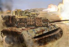 Onslaught Tiger 2's and Tiger 1's Giving Fire