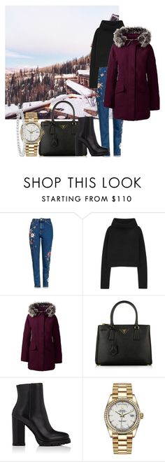 """""""Bez naslova #6104"""" by unorthodox-1 ❤ liked on Polyvore featuring Topshop, Haider Ackermann, Lands' End, Prada, Rolex and Effy Jewelry"""