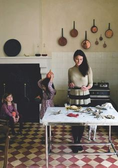 Blogger Mimi Thorisson cooks on her Lacanche at home. As featured in Côté Maison Magazine.