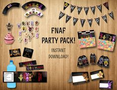 Five Nights at Freddy's party pack FNAF party by SuperInstantParty