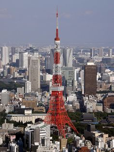 #3860 Tokyo Tower from City Deck by Nemo's great uncle, via Flickr