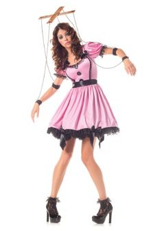 This pink marionette costume will transform you into a life-size puppet! See who tries to pull your strings when you go out with your friends!