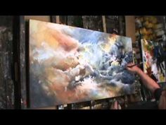 Michael Lang: painting 'TURMOIL' Modern contemporary art Mix Lang How to DEMO
