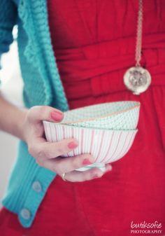 .red dress aqua sweater