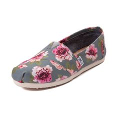 Womens TOMS Classic Slip-On Floral Casual Shoe