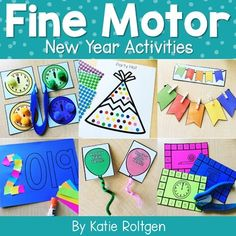 Celebrate The New Year in your classroom with this collection of New Year Fine Motor Activities! These are perfect for prekindergarten small groups and morning tubs or kindergarten centers or stations. These low-prep activities give PreK and K students the chance to work on their fine motor skills, such as paper tearing, cutting, line tracing, dotting, and stringing beads, along with many others. Keep their attention while celebrating The New Year with these hands-on activities they will love!