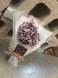 Preserved flower  시들지않는생화 프리저브드플라워 색안개꽃다발