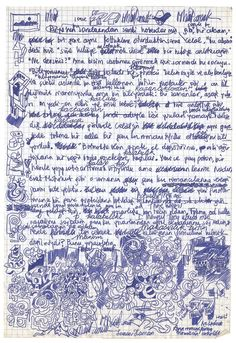 """Manuscript page from Orhan Pamuk's notebook for """"The Black Book."""""""