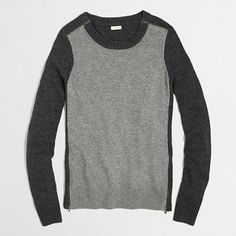 J.Crew Factory - Factory warmspun colorblock zip sweater
