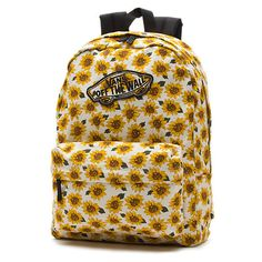 Realm Sunflower Backpack (2,525 INR) ❤ liked on Polyvore featuring bags, backpacks, accessories, viajem, polka dot backpack, dot backpack, rucksack bag, yellow backpack and yellow bag