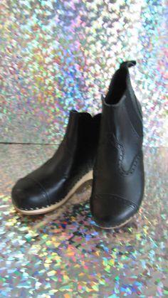 NIB $265 Swedish Hasbeens Chelsea Debutant Clog Boots EU 38 (US 8 ) #SwedishHasbeens #FashionAnkle