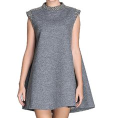 THIN MORE Designer Women's Plus Size Sleeveless Special Occasions Wool Dresses >>> Insider's special review you can't miss. Read more  : Trendy plus size clothing