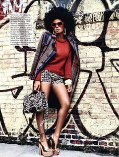 Natural Belle: Solange Knowles Models