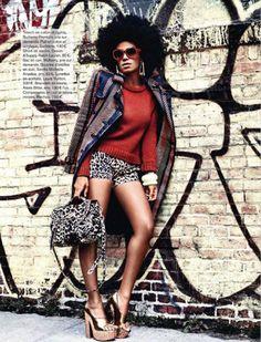 Natural Belle: Solange Knowles Models