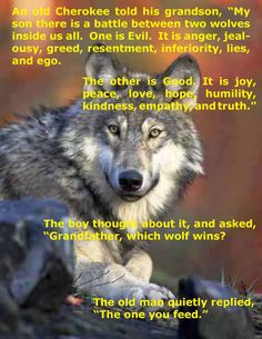Good Wolf/Bad Wolf as told by AFE, Todd Hoyt ---> the most caring, talented, Inspirational Leader I've known in my 15 years working @ StateFarm!